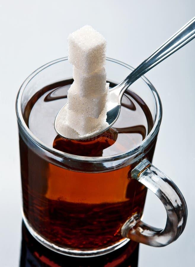 Zucchero e tè fotografia stock libera da diritti