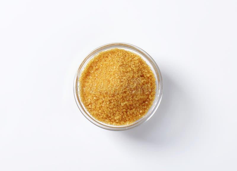 Zucchero greggio di canna marrone dorato immagine stock