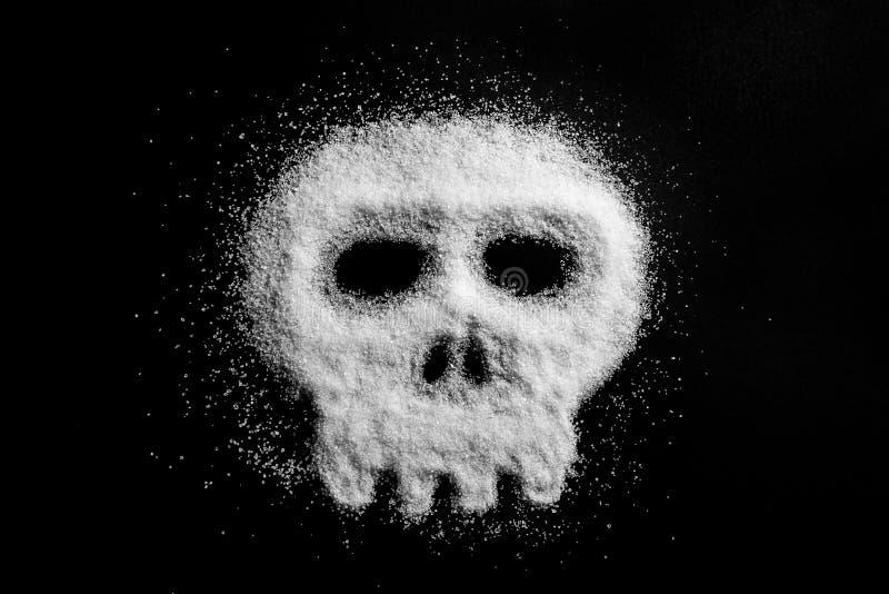 Zucchero sotto forma di cranio fotografie stock