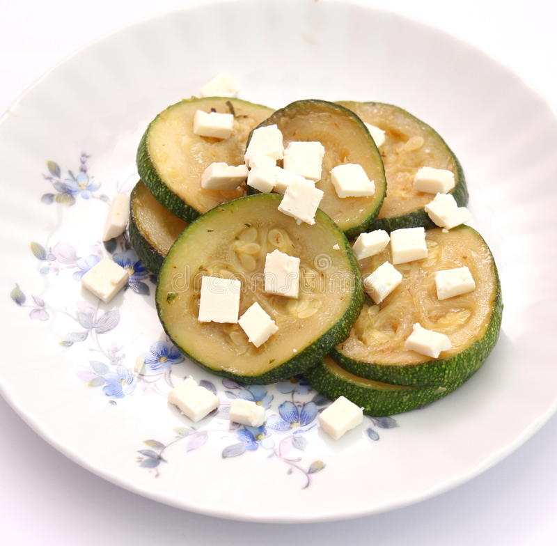 Zucchini with cheese royalty free stock photos
