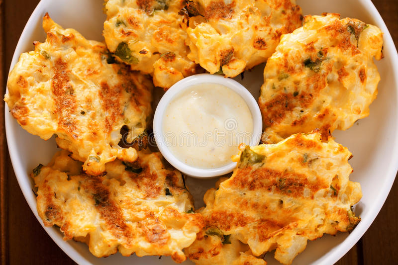 Zucchini croquettes obrazy royalty free
