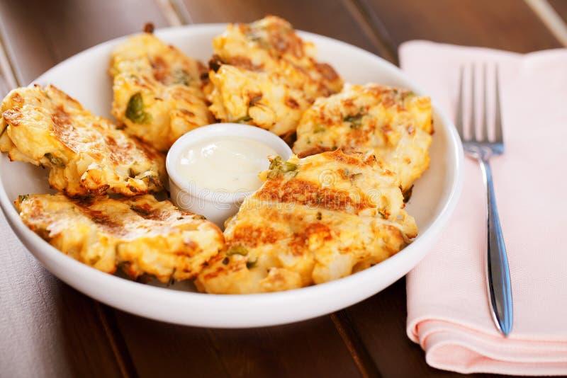 Zucchini croquettes zdjęcie stock