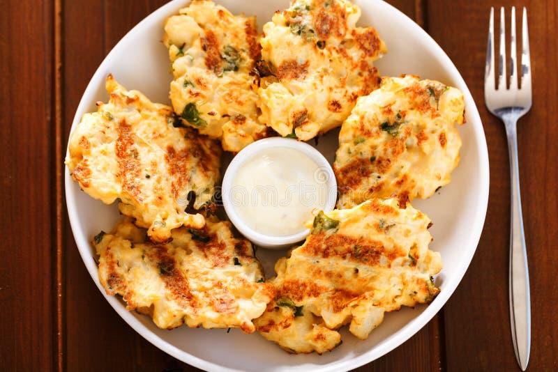Zucchini croquettes zdjęcia stock