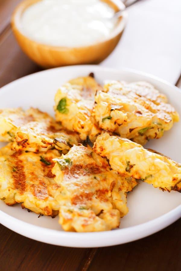 Zucchini croquettes obrazy stock