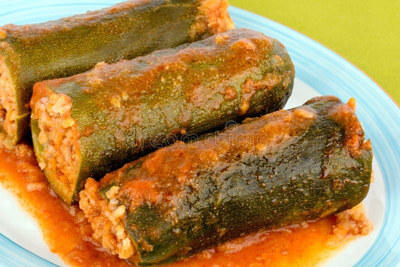 Zucchini enchido. imagens de stock
