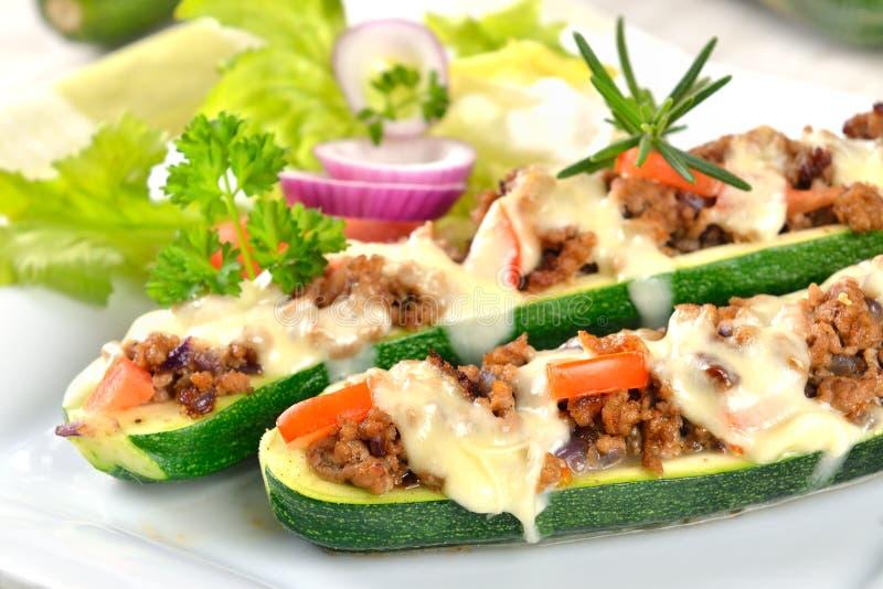 Zucchini farcito immagine stock libera da diritti