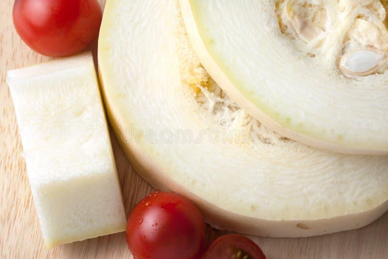 Zucchini i pomidor obraz stock