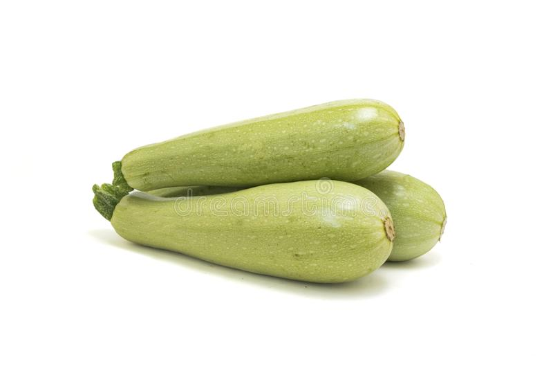 Zucchini isolato su bianco fotografia stock