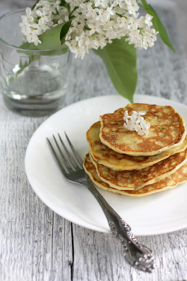 Download Zucchini pancakes stock photo. Image of close, gold, culture - 26658794