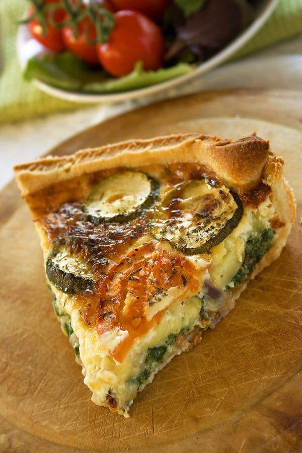 Zucchini Quiche stock photo