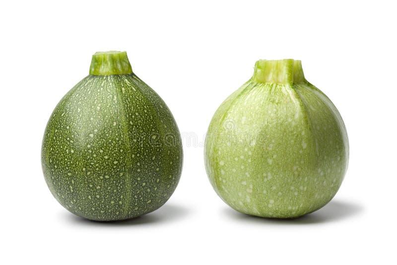Zucchini redondo verde fresco foto de stock