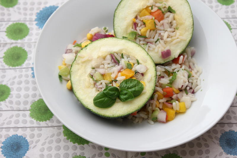 Zucchini with rice royalty free stock images