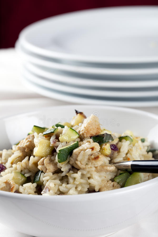 Zucchini Risotto Entree Stock Images
