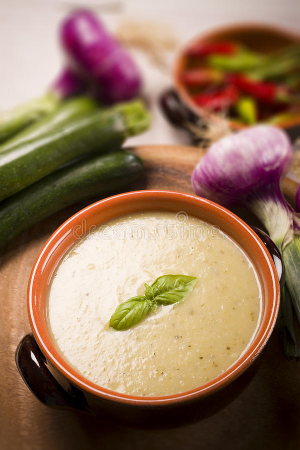 Zucchini soup royalty free stock photos
