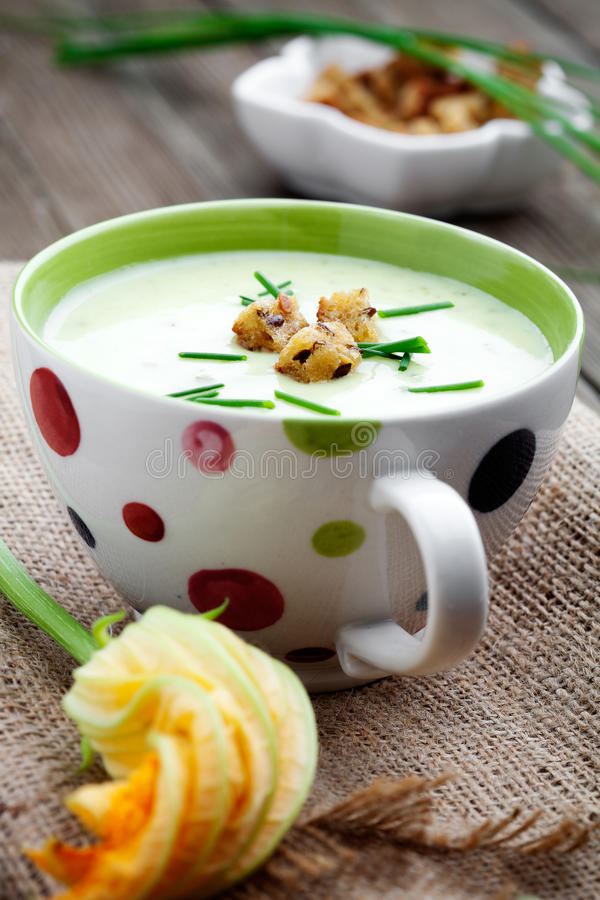 Download Zucchini soup stock image. Image of green, eating, gourmet - 26499651