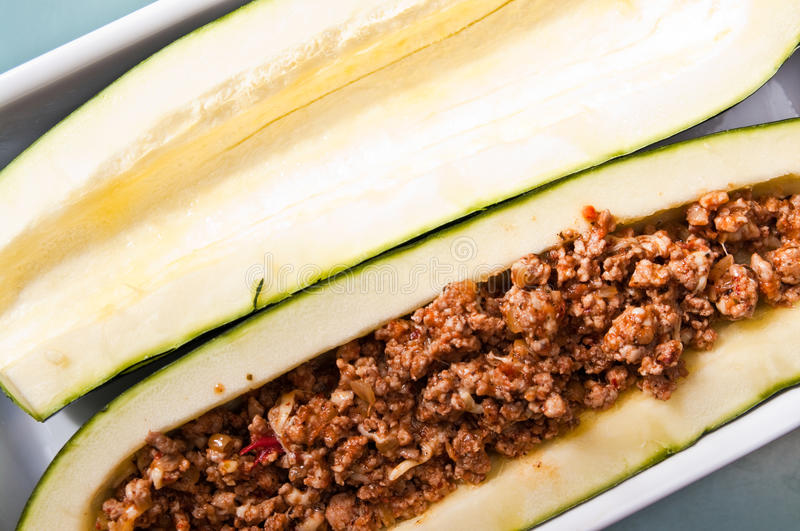 Download Zucchini With Spicy Meat Stuffing Stock Image - Image: 43209883