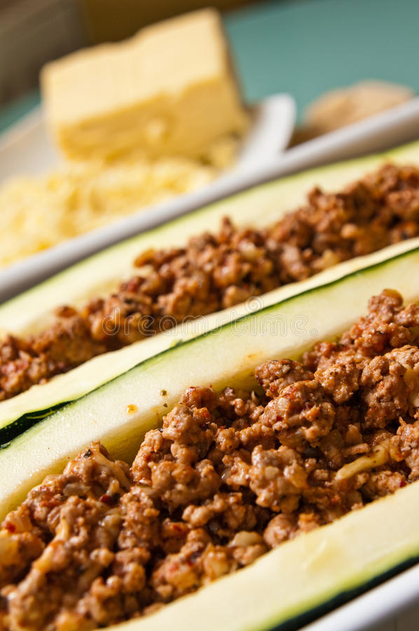 Download Zucchini With Spicy Meat Stuffing Stock Photo - Image: 43209888