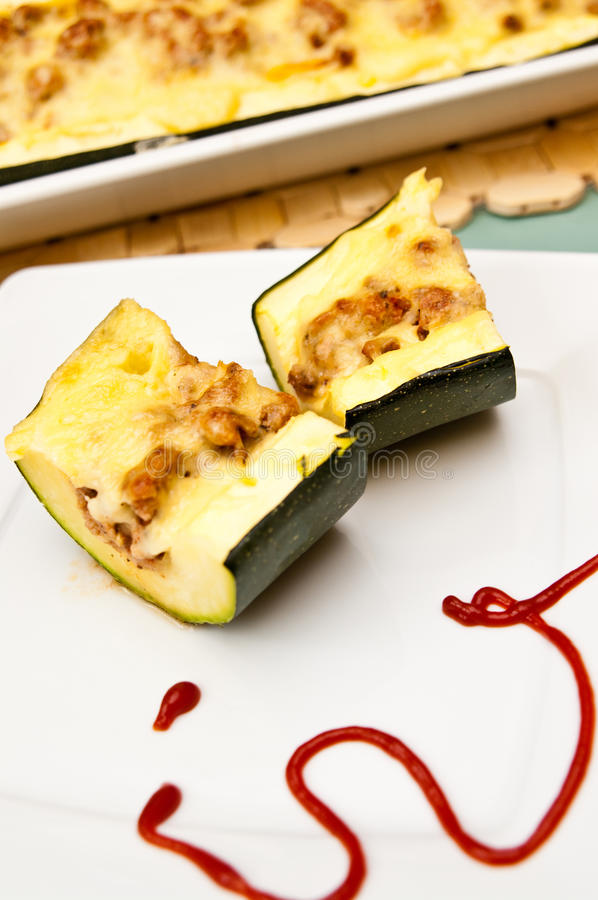 Download Zucchini With Spicy Meat Stuffing Stock Photo - Image: 43209962