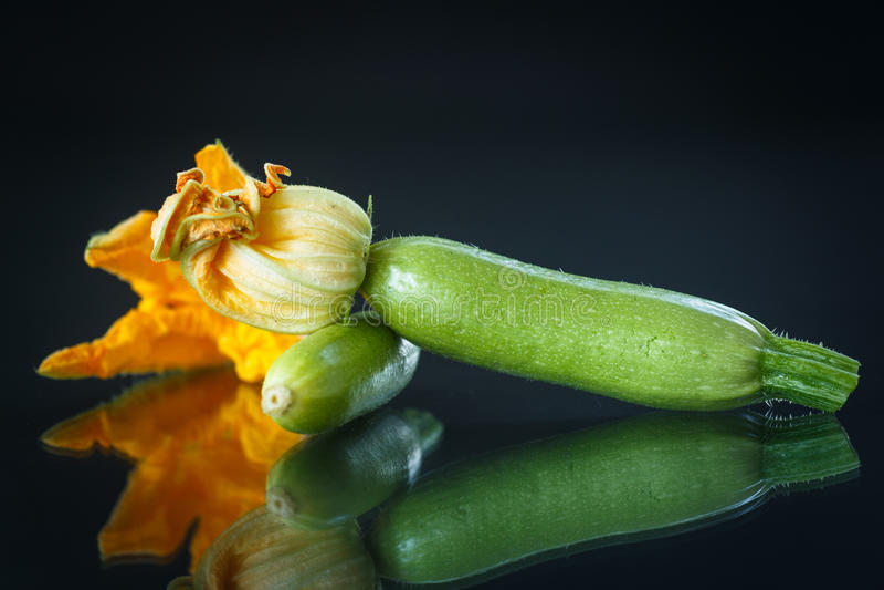 Zucchini verde fresco imagem de stock royalty free