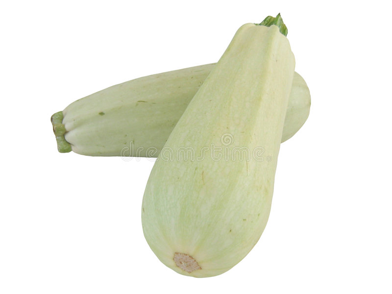 Zucchinis. On a white ground royalty free stock photo