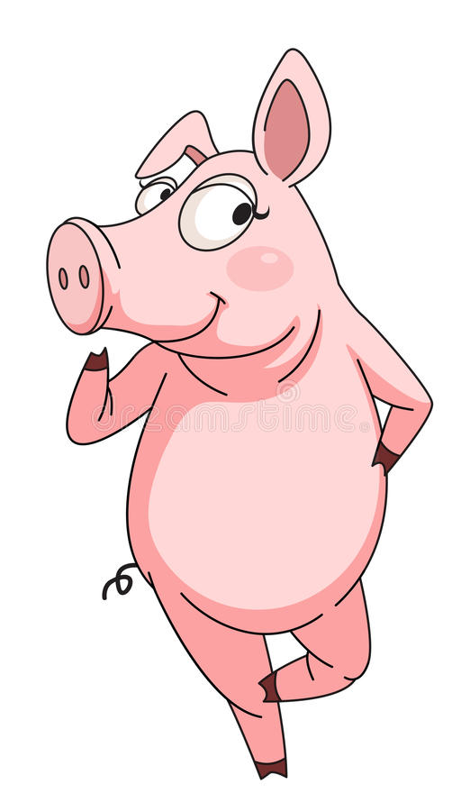 zuchwała świnia royalty ilustracja