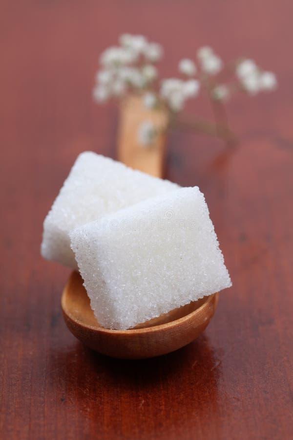 Zuckeransammlung - weiße Würfel lizenzfreie stockfotografie