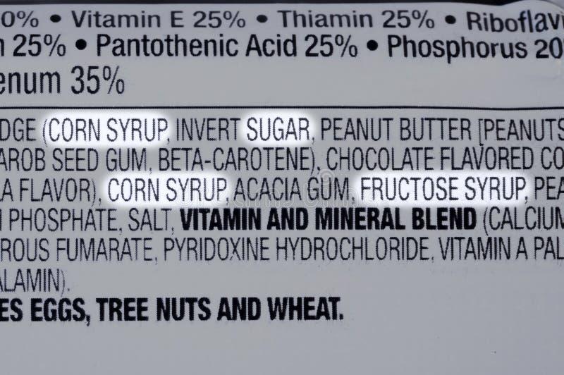 Zuckerbestandteile lizenzfreie stockfotografie
