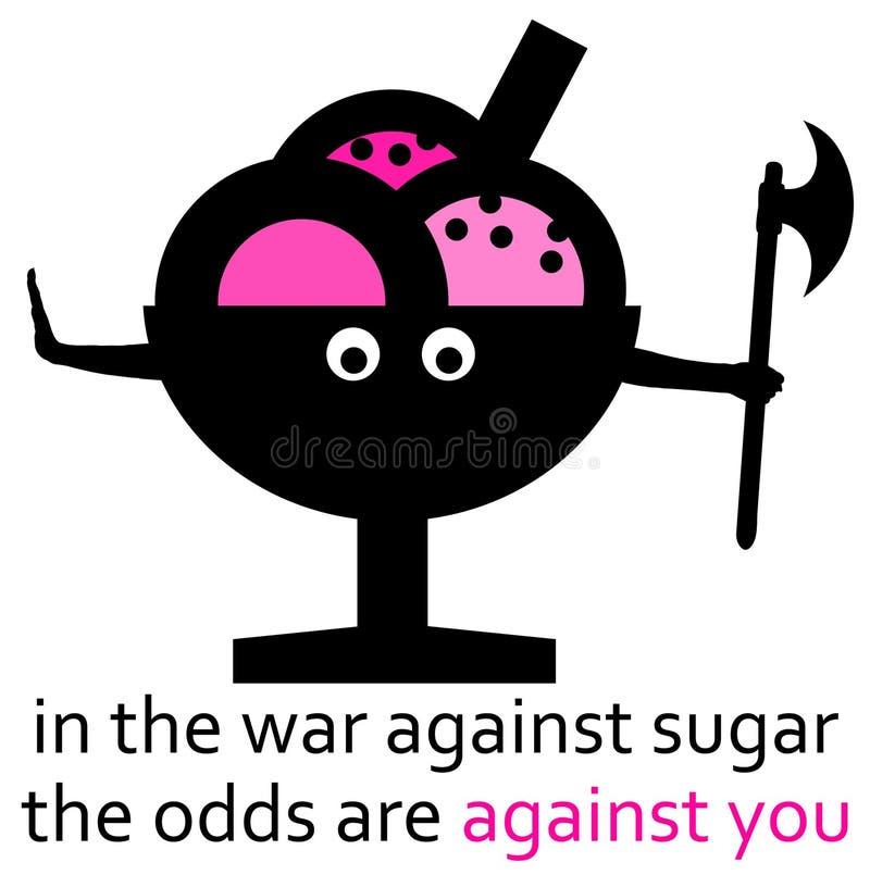 Zuckerkrieg lizenzfreie abbildung