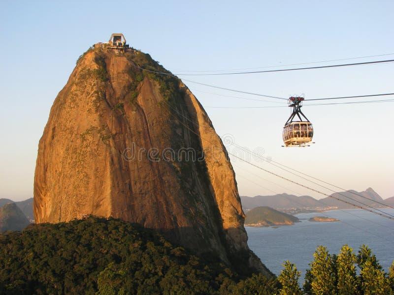 Zuckerlaibberg in Rio de Janeiro lizenzfreies stockfoto