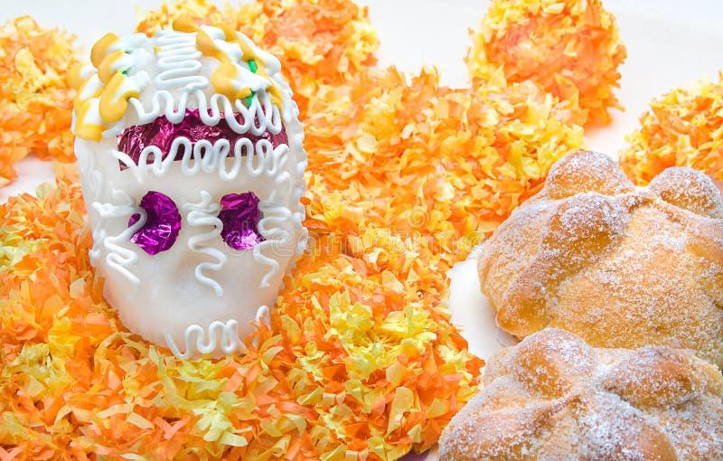 Zuckerschädelaltar für u. x22; Dia de Los Muertos& x22; stockbild