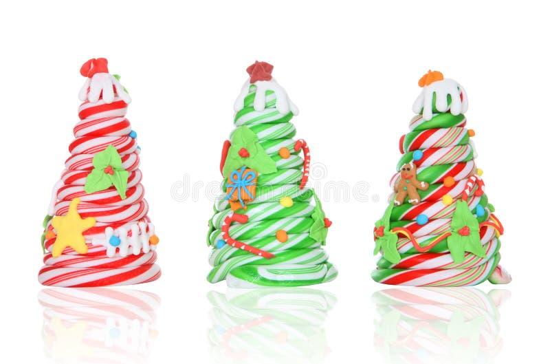 Zuckerstange-Weihnachtsbäume lizenzfreies stockfoto