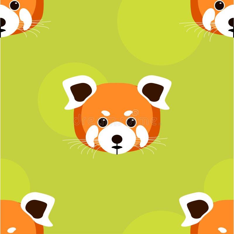 Zueco de la cabeza de la panda roja foto de archivo libre de regalías