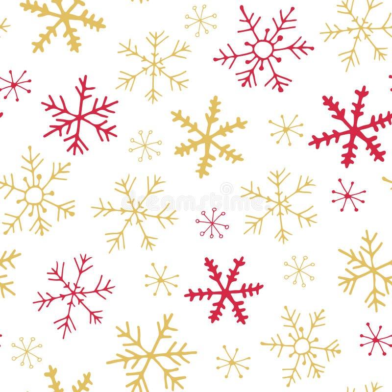 Zueco inconsútil de los copos de nieve stock de ilustración