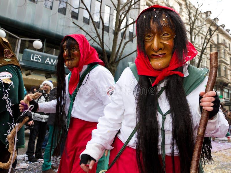 ZueriCarneval Fasnacht Zurich, Suisse images libres de droits