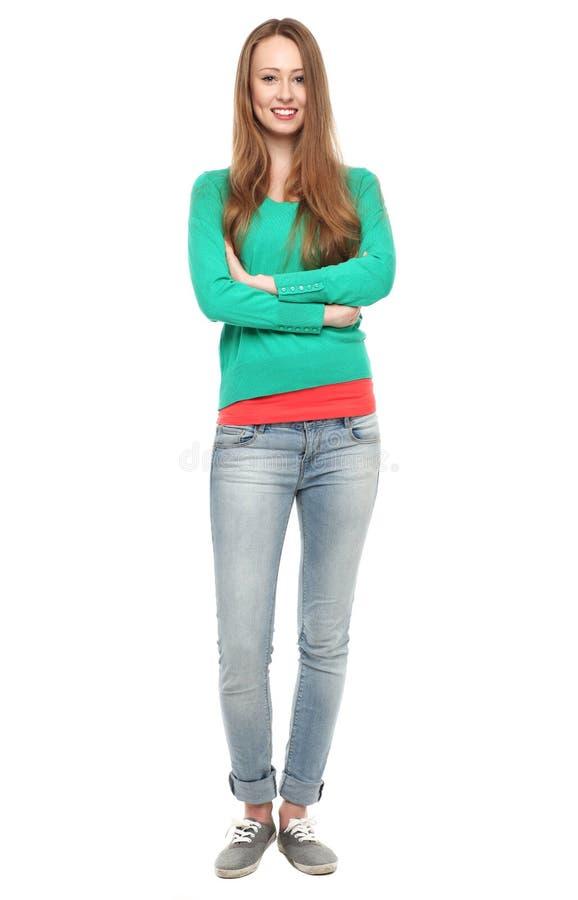 Zufällige junge Frau stockbilder