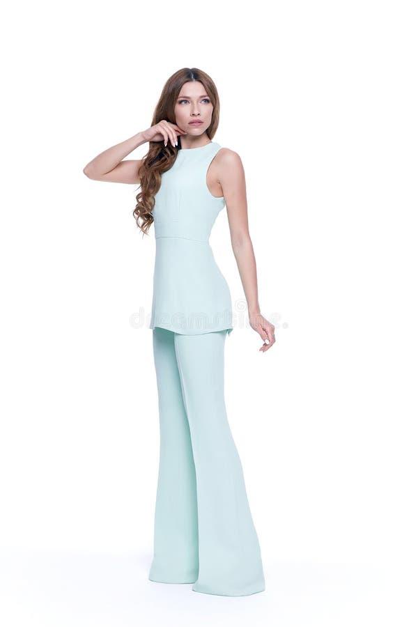 Zufällige Kleidung des Zaubermodeartkataloges für Geschäftsfrau lizenzfreies stockbild