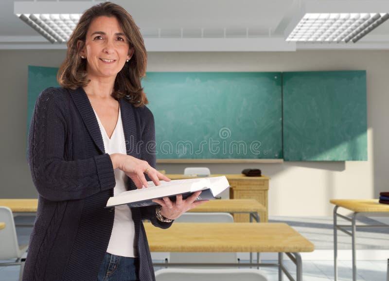 Zufälliger weiblicher Lehrer lizenzfreies stockbild