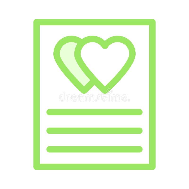 Zufriedene Ikone der Liebe stock abbildung