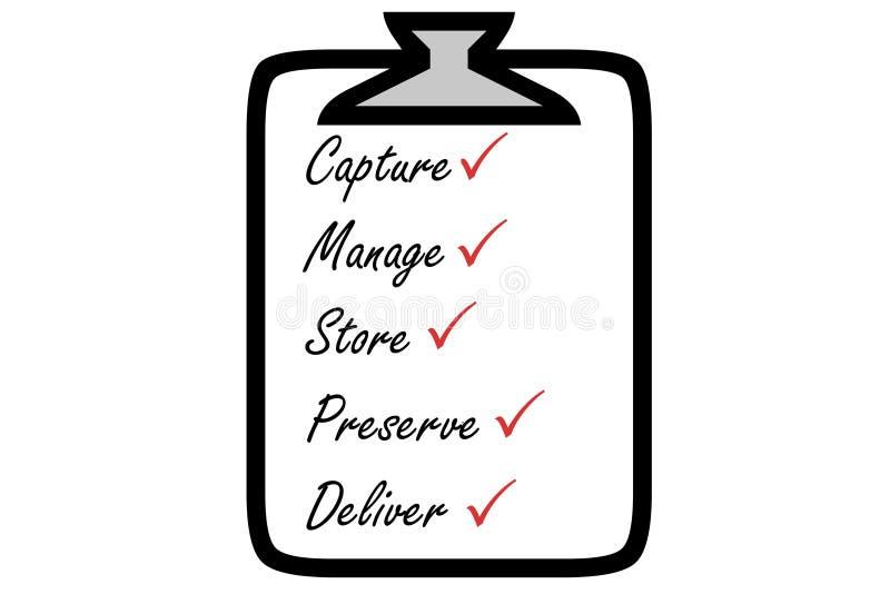 Zufriedenes Management vektor abbildung