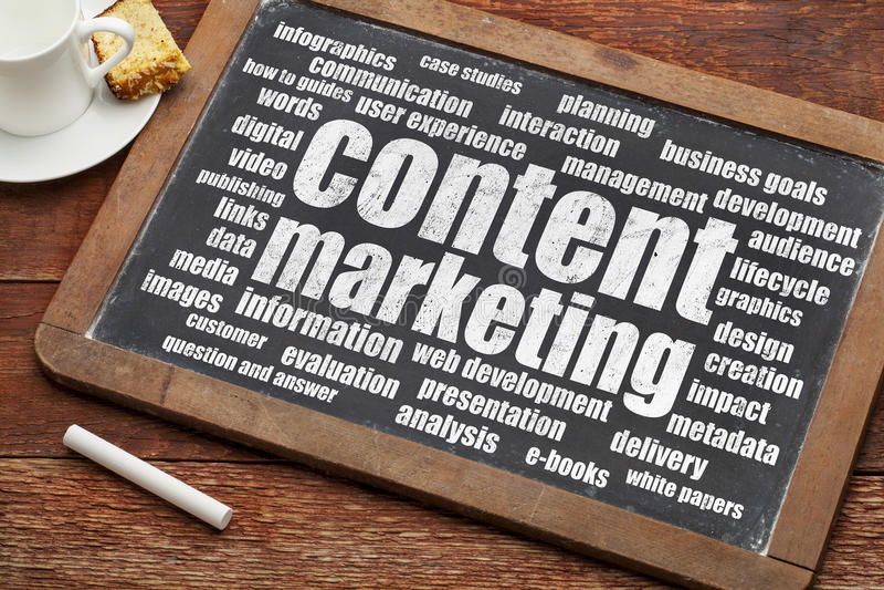 Zufriedenes Marketing lizenzfreie stockbilder