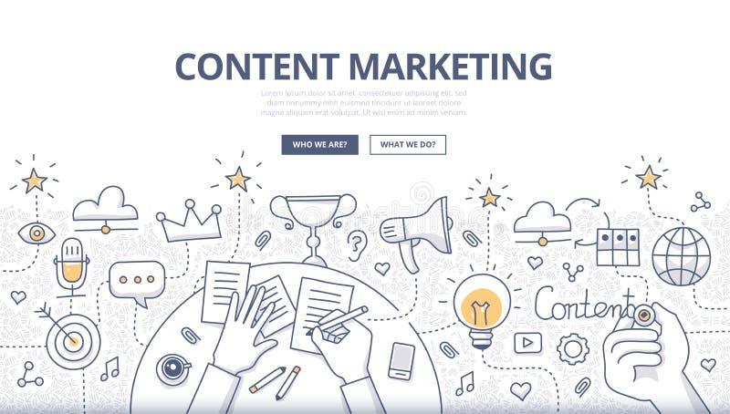 Zufriedenes Marketing-Gekritzel-Konzept lizenzfreie abbildung