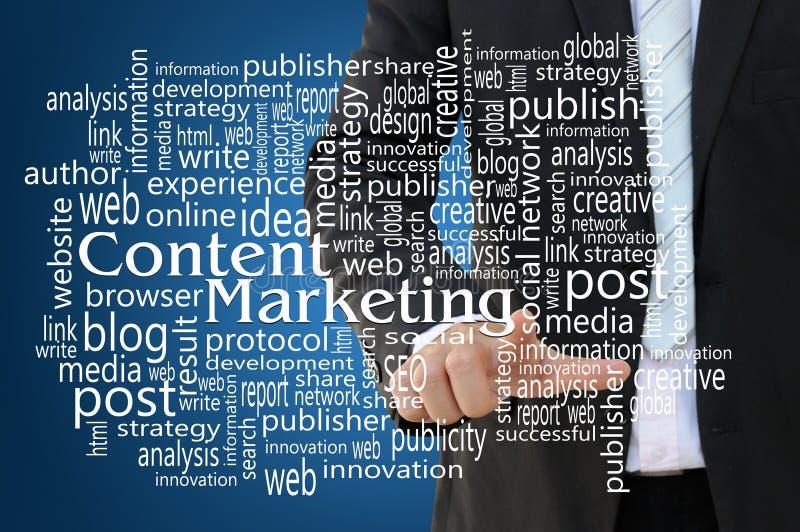 Zufriedenes Marketing-Konzept lizenzfreies stockbild