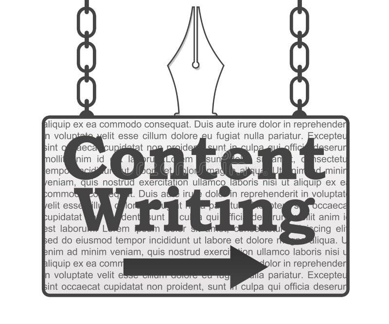 Zufriedenes Schreibens-Schild stock abbildung