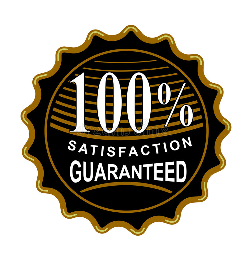 Zufriedenheit 100  Garantiert Lizenzfreie Stockbilder