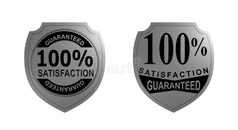 Zufriedenheit 100% garantierte stock abbildung