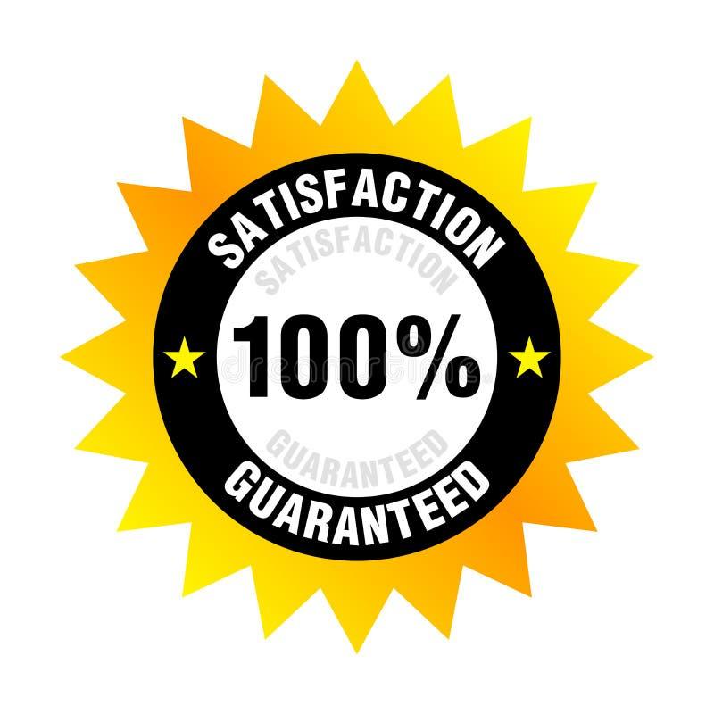 Zufriedenheit garantiert stock abbildung