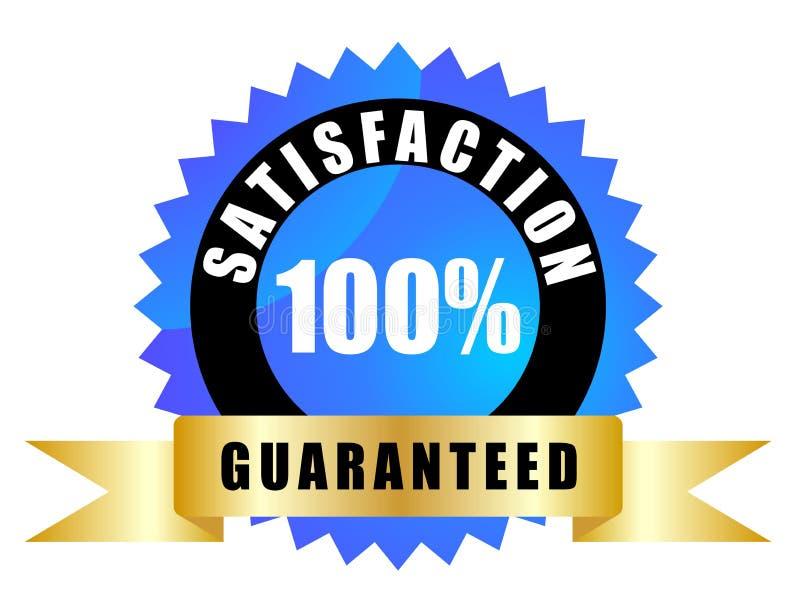 Zufriedenheit garantiert lizenzfreie abbildung