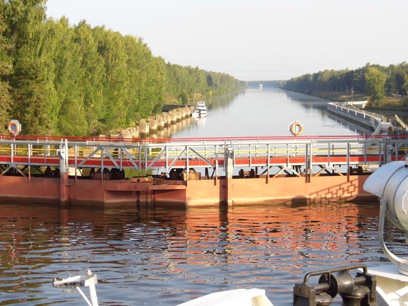 Zugänge der Wolgas und seiner Flussufer stockbilder