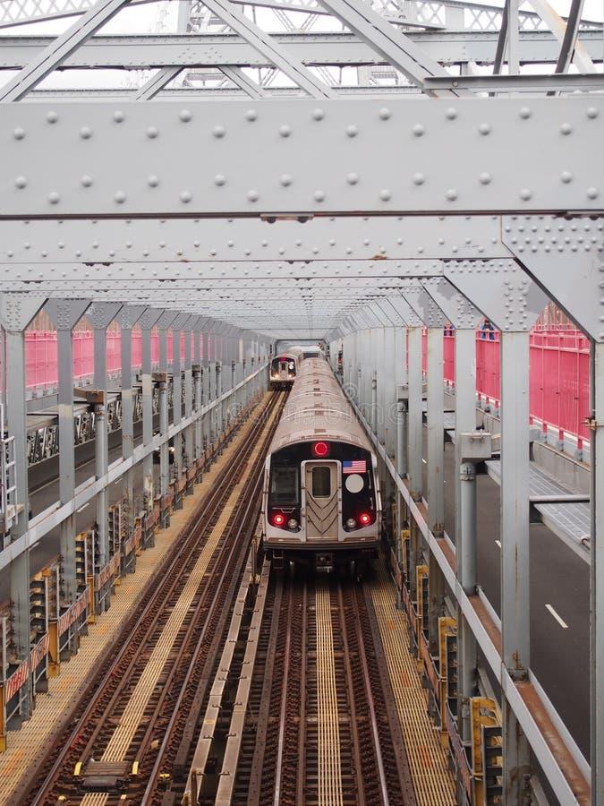 Zug-Überfahrt-Brücke lizenzfreies stockbild
