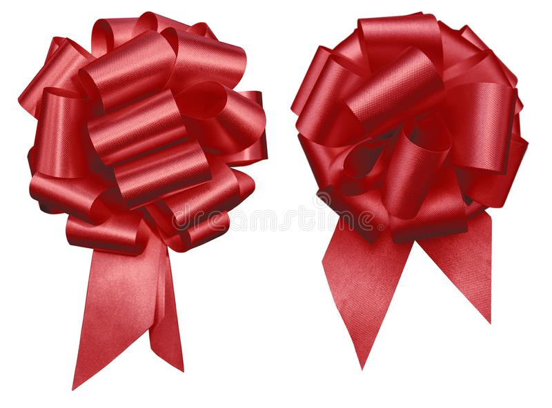 Zug-Bogengruppe des roten Feiertags zwei decretive issolated am weißen Hintergrundmuttertag, am Weihnachten, an Valentine's-Tag lizenzfreie stockfotografie
